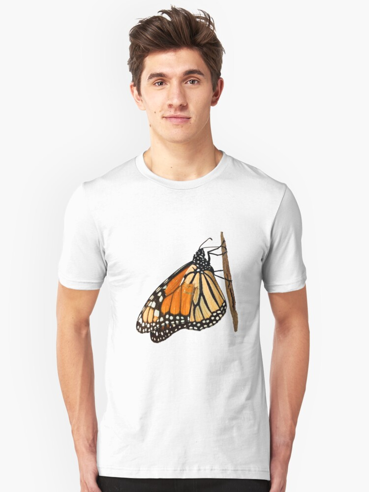 Monarch Butterfly closeup on a twig II Unisex T-Shirt Front