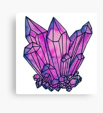 crystal cluster Canvas Print