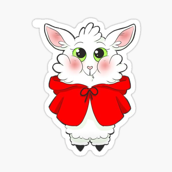 Little Red Riding Hoof Sticker