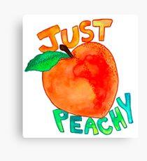 just peachy watercolor Canvas Print