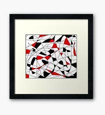 Black 'n white... and red! Framed Print