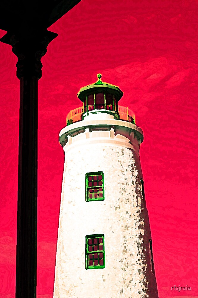 light house in red by rfsjraia