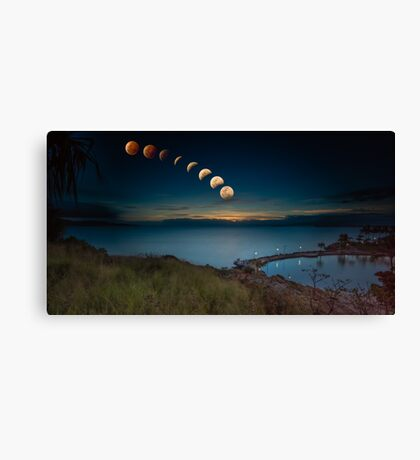 Lunar Eclipse Townsville Canvas Print