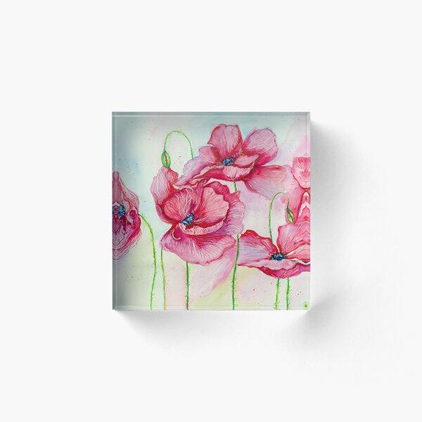 Poppies dance Acrylic Block