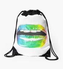 Rainbow Lipgloss Drawstring Bag