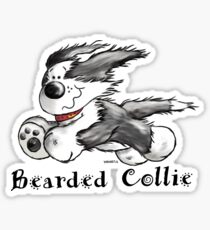 Funny Bearded Collie Sticker