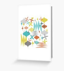 Mod Sketches Yellow Greeting Card