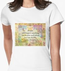 Whimsical Confidence humourous snarky quote funny  Women's Fitted T-Shirt