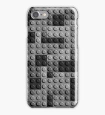Lego Bricks Black White iPhone Case/Skin