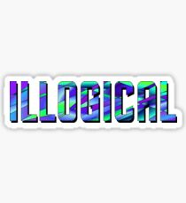 Illogical - Star Trek - Turquoise Sticker