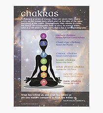 Chakras -Yoga, Meditation, Balance Photographic Print