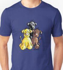 Three Cute Labradors Cartoon Unisex T-Shirt