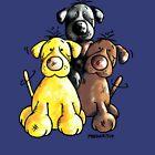 Three Cute Labradors Cartoon by modartis