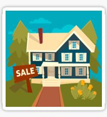 Real Estate Banner. House for Sale Sticker