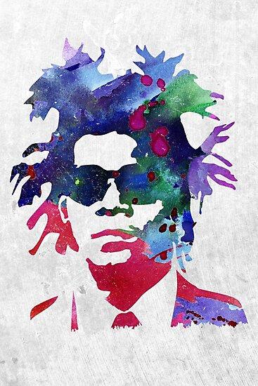 Jean-Michel Basquiat Splatter 2 by Celticana