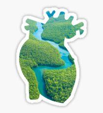 Anatomically Correct Rainforest Heart Sticker