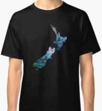NEW ZEALAND MAP SIMPLE PAUA Classic T-Shirt