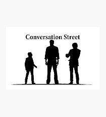 conversation street Photographic Print