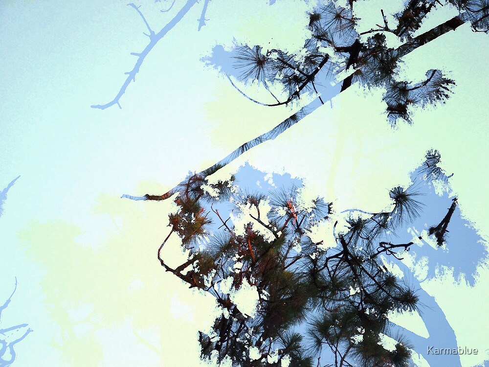 Double Exposure: Trees by Karmablue