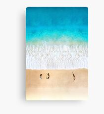 Australian Beach Cricket - Aerial Canvas Print