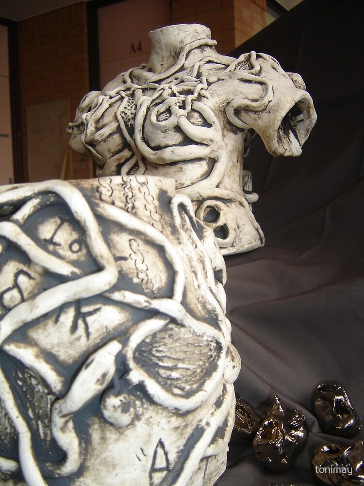 Pandora's Box-Sculpture (On Brown) by tonimay