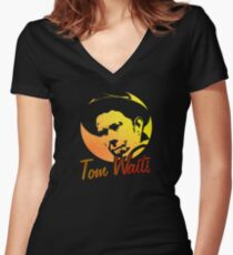 Tom Waits   Women's Fitted V-Neck T-Shirt