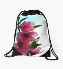 Peach Blossoms Drawstring Bag