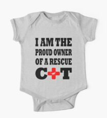 I Am The Proud Owner Of A Rescue Cat One Piece - Short Sleeve