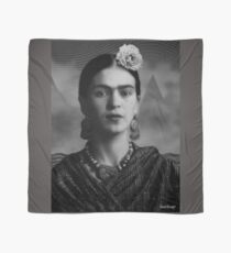 Frida Kahlo with Mountains - Black and White (Ver 8.5) Scarf