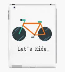 Let's Ride. iPad Case/Skin