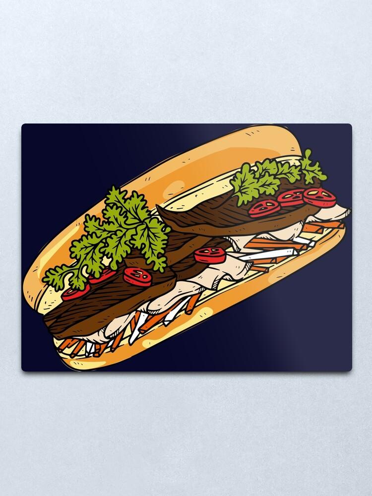 Banh Mi Vietnamese Sandwich Cuisine Asian Food Bun Me Metal