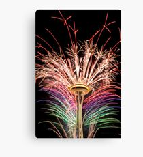 Happy New Year Seattle Canvas Print