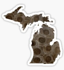 Michigan Petoskey Stone Sticker