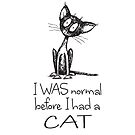 I was normal before I had a cat. Scruffy Cat. by jitterfly