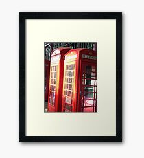 Double the Phone Box Framed Print