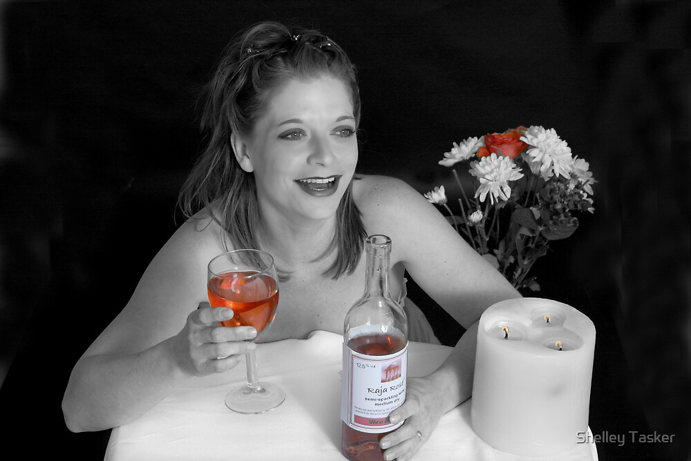 Girls love a glass of red by Shelley Tasker