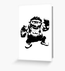 Weathered Wario Greeting Card