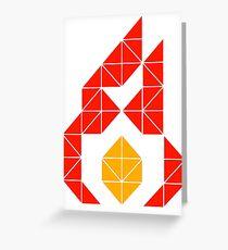 Geometric Inferno Greeting Card