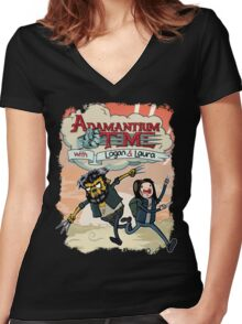 Adamantium Time (Variant) Women's Fitted V-Neck T-Shirt
