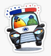 Let's Fight Crime With Mangoes and Limes Sticker
