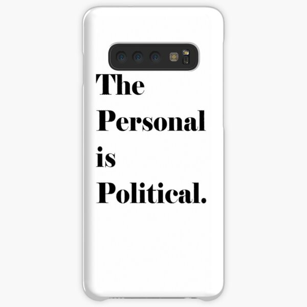 The Personal is Political (Black Lettering) Samsung Galaxy Snap Case