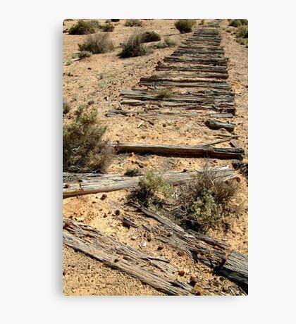 Ruins Old Ghan Railway,Oodnadatta Track Canvas Print