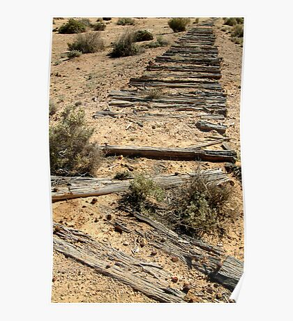 Ruins Old Ghan Railway,Oodnadatta Track Poster