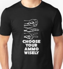 Rock Paper Scissors Choose Your Ammo Wisely T-Shirt