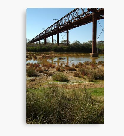 Argibuckle Bridge, Oodnadatta Track,Outback South Australia Canvas Print
