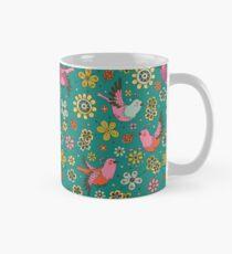 Doodle Birds Motif floral Mug
