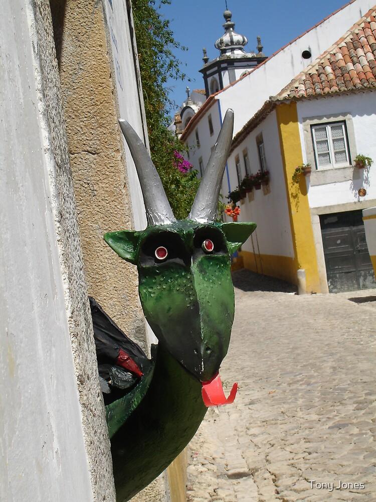 Goat Sculpture - Obidos, Portugal by Tony Jones