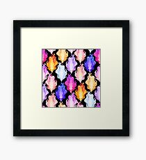 Abstract graphic fire Framed Print