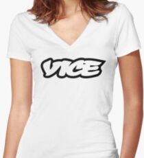 Vice Logo Women's Fitted V-Neck T-Shirt