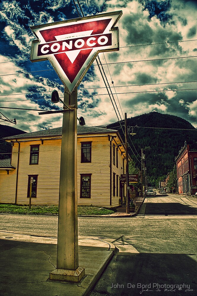 A Sign From  Past Times by John  De Bord Photography